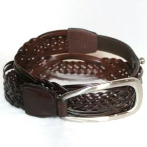 Coldwater Creek brown braided leather belt